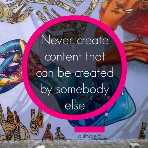 contentcreatie - be an original