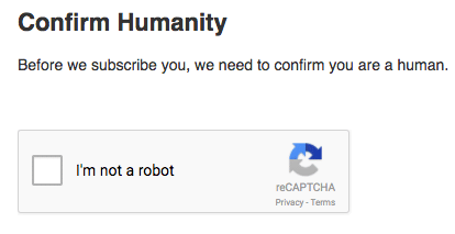 Mailchimp checking your humanity