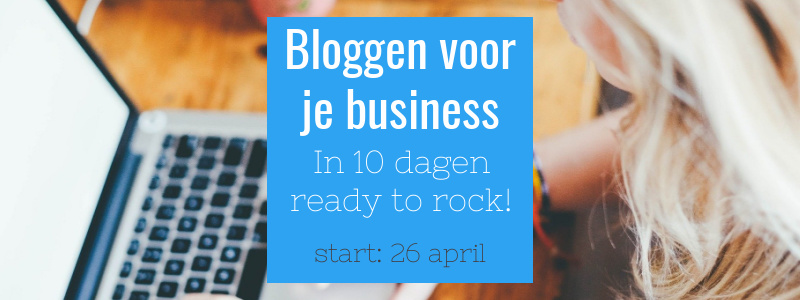 Bloggen voor je Business