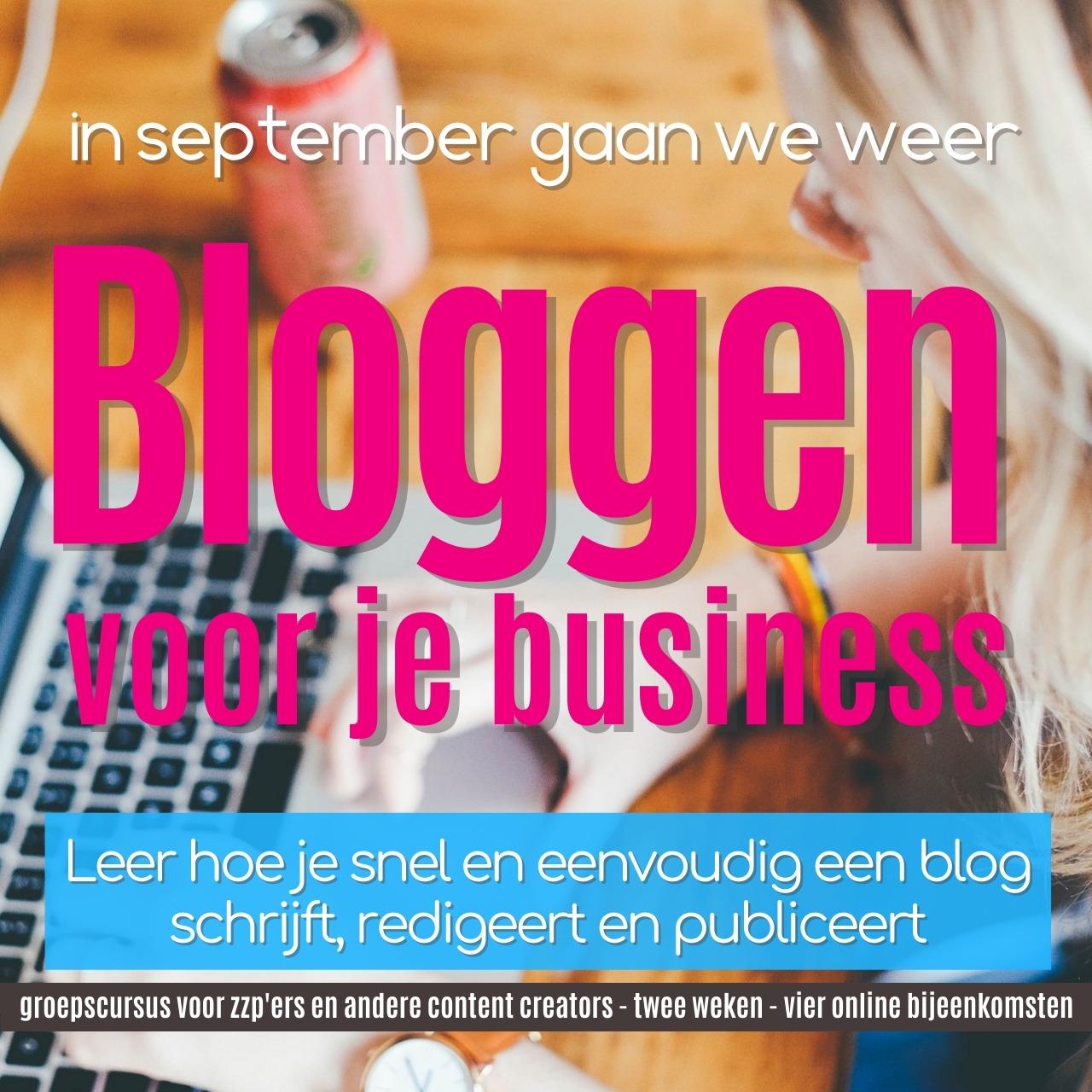 Bloggen voor je business 2021