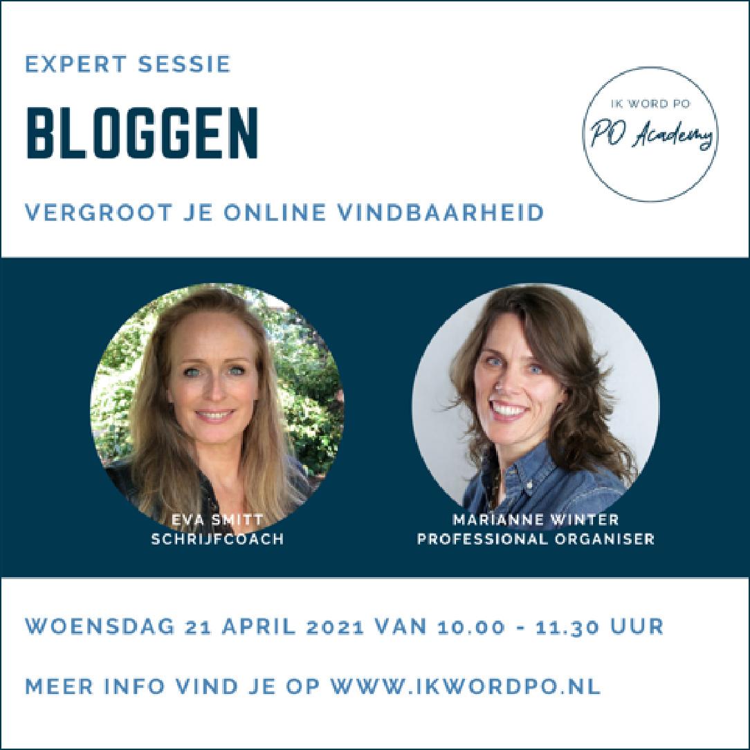 expertsessie bloggen